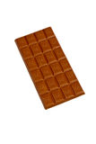 Hole chocolate bar. Chocolate bar isolated on white Stock Image