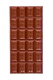 Hole chocolate bar. Chocolate bar isolated on white Royalty Free Stock Image
