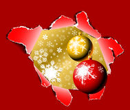 Hole into Christmas time Royalty Free Stock Images
