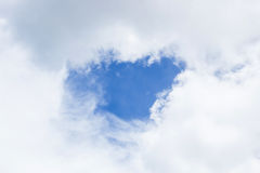 Hole Of Cloud. Beautiful Cloud With Blue Core Stock Images