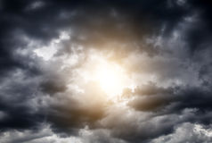 Hole in the Clouds Royalty Free Stock Image