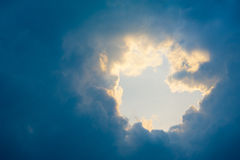 Hole in the cloudscape Royalty Free Stock Photography