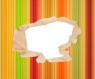 Hole in Colored Paper Stock Photo