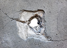 Hole in the concrete royalty free stock photography