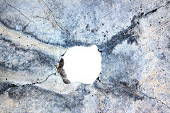 Hole in the concrete Royalty Free Stock Image