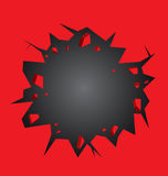 Hole cracked in the red wall Royalty Free Stock Images