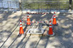 Hole Drainage Under Construction Stock Photos