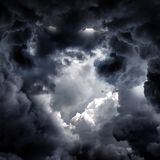 Hole in the Dramatic Clouds royalty free stock images