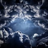 Hole in the Dramatic Clouds royalty free stock image