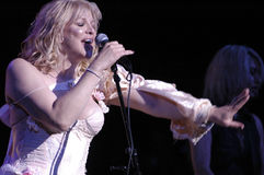 Hole featuring Courtney Love performing live. Hole (Courtney Love) performing live at the Wiltern Theatre in October 2007 Royalty Free Stock Photo