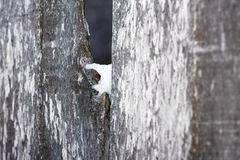 Hole in fence Royalty Free Stock Images