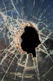 Hole in Glass stock photo