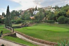 Hole golf stock image