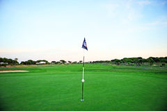 Hole in the golf course, Andalusia, Spain Royalty Free Stock Photos