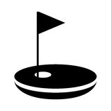 Hole golf with flag Stock Images
