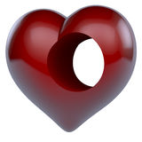 Hole of the heart Royalty Free Stock Image