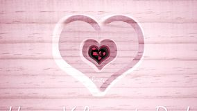 Hole with heart shape and butterflies fluttering stock video