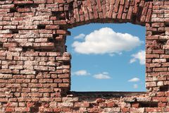 Hole In A Wall Royalty Free Stock Images
