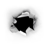 Hole In Paper Stock Image