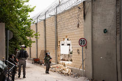 Hole in Israeli separation wall Stock Images