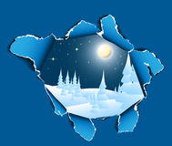 hole landscape snowy to winter Στοκ φωτογραφία με δικαίωμα ελεύθερης χρήσης