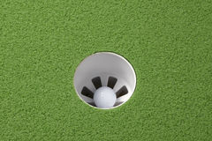 Hole in one! Stock Images