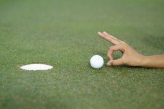 Hole-in-one 2 Royalty Free Stock Photos