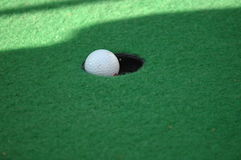 Hole in one. On a dutch golf course Stock Photography