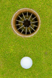 Hole in One - ALMOST!. The joys and frustration of golf Royalty Free Stock Photography