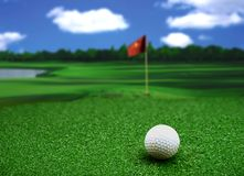 Hole in one in cloudy day Royalty Free Stock Images
