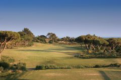 Hole one in oitavos golf stock photo
