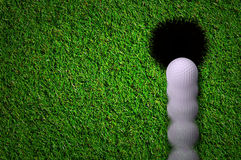 Hole in one shot Stock Photography