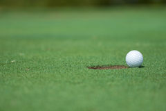 Hole in one. stock image