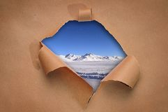Hole in a paper Royalty Free Stock Image