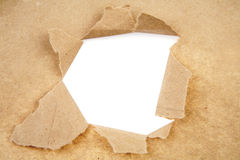 Hole in paper Stock Images