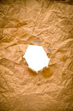 Hole in paper Stock Photography