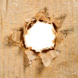 Hole in Paper. Paper and Cardboard Series Royalty Free Stock Photography