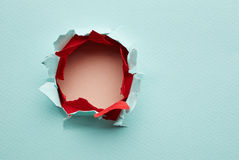 Hole in the paper Stock Photography