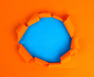 Hole in the paper blank Royalty Free Stock Photo