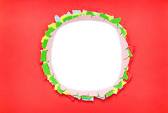 Hole in paper Royalty Free Stock Photos