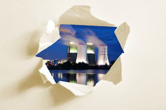 Hole in paper and industry Stock Photography