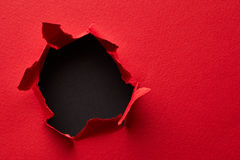 Hole in the paper Royalty Free Stock Image