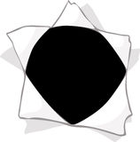 Hole in the paper - vector illustration Stock Photos