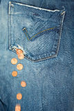 Hole in a pocket money loss concept Royalty Free Stock Photos
