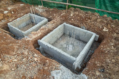 Hole of pole in construction site building prepare Stock Photography