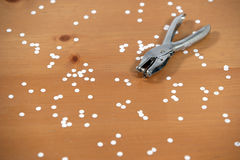 A hole Punch. On a desk in the office Royalty Free Stock Photography