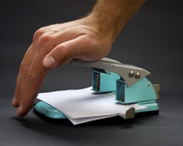 Free Hole Punch Royalty Free Stock Photography - 7657777