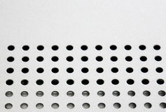 Hole punched metal Stock Image