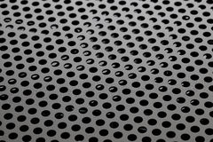 Hole punched metal Royalty Free Stock Photo
