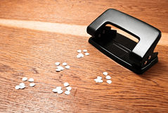 Hole puncher. Royalty Free Stock Photo